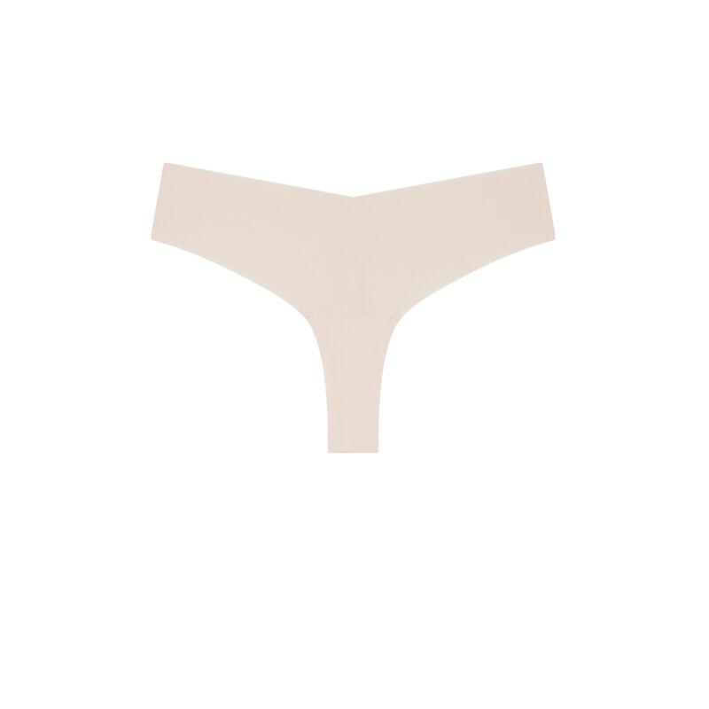 Braguita brasileña de microfibra con encaje - rosa claro;