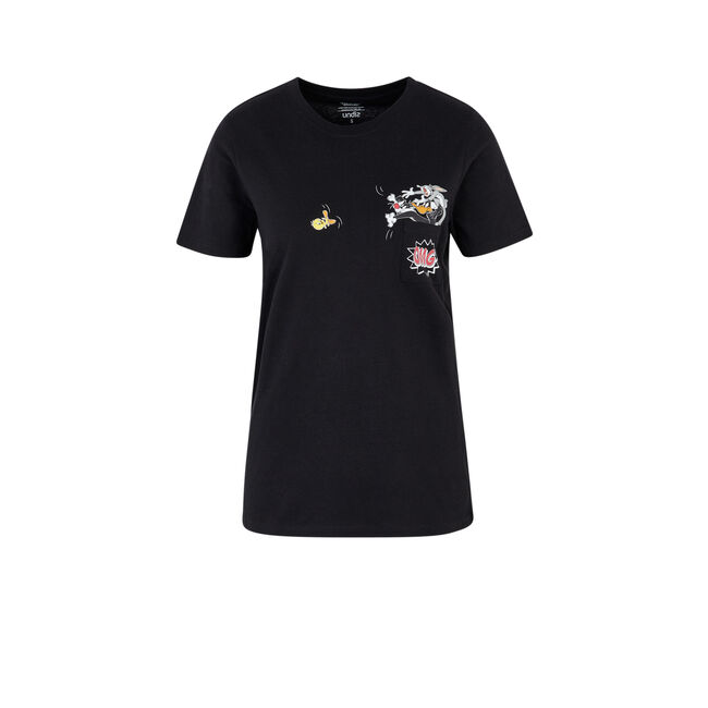 Camiseta negra coyotiz;