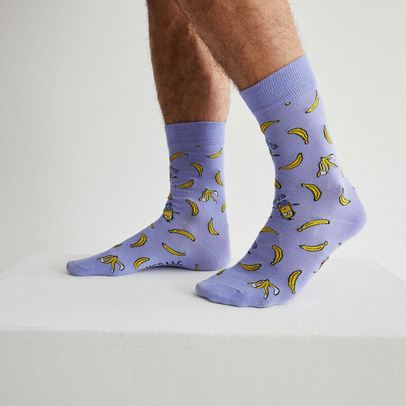 Calcetines Los Minions y plátanos - azul;