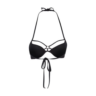 Parte de arriba de bikini push-up negra crochiz black.