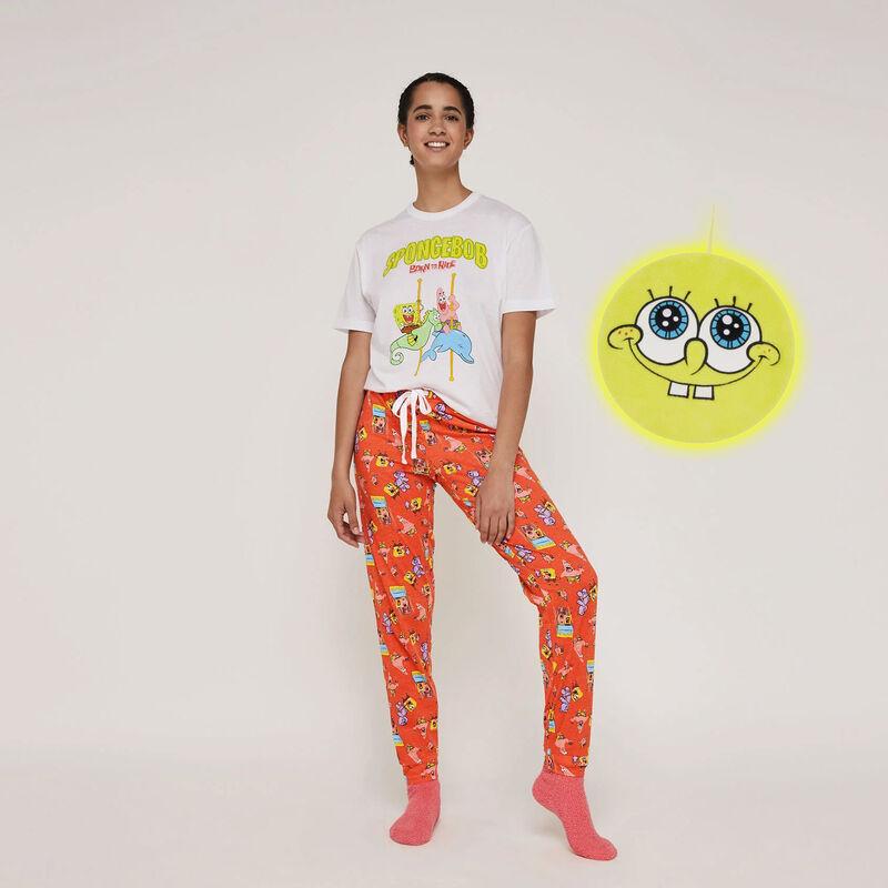 Conjunto de pijama top + pantalón licencia Bob Esponja patrickiz;
