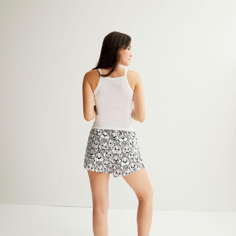 shorts con estampado Chip y Chop - blanco;