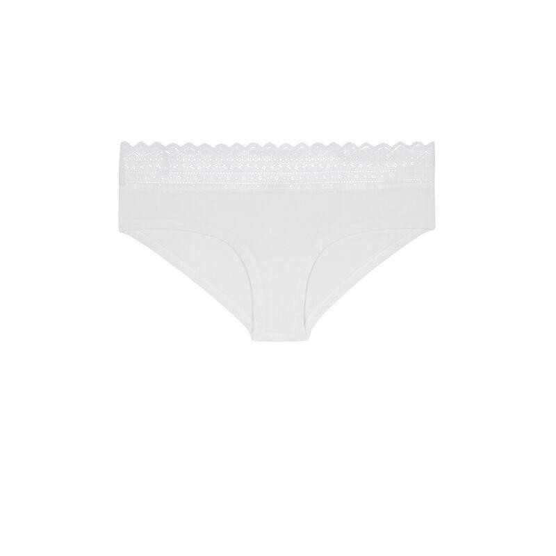 Braguita culotte de algodón lisa waistiz;