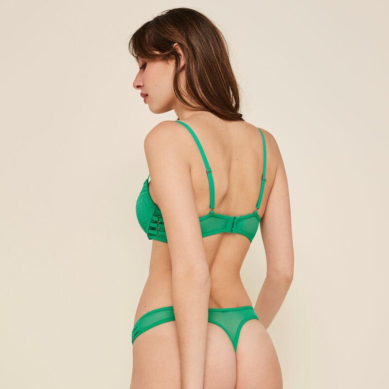 Sujetador push-up verde esmeralda triasiz;