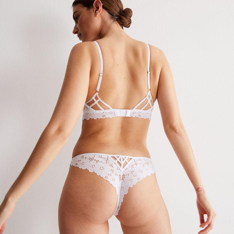 Braguita brasileña toda de encaje calado - blanco;