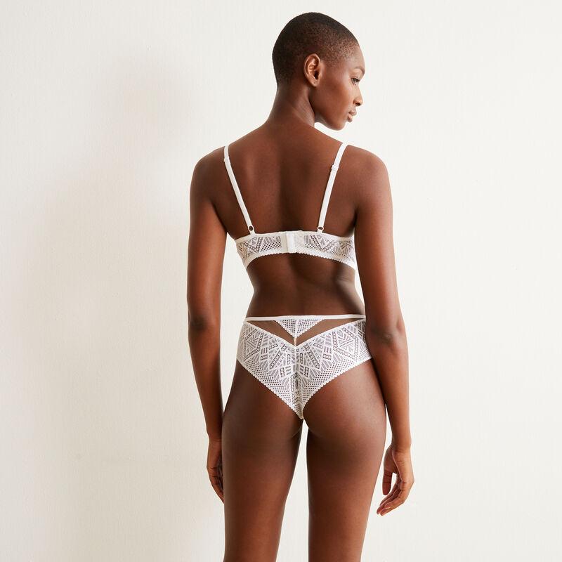 Braguita culotte de encaje - blanco;
