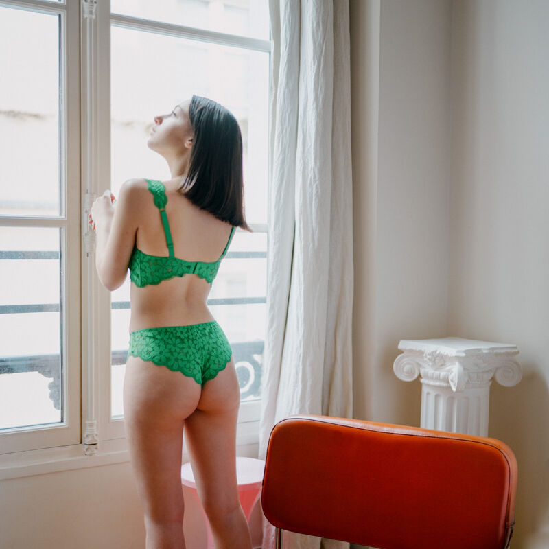braguita culotte de encaje - verde;