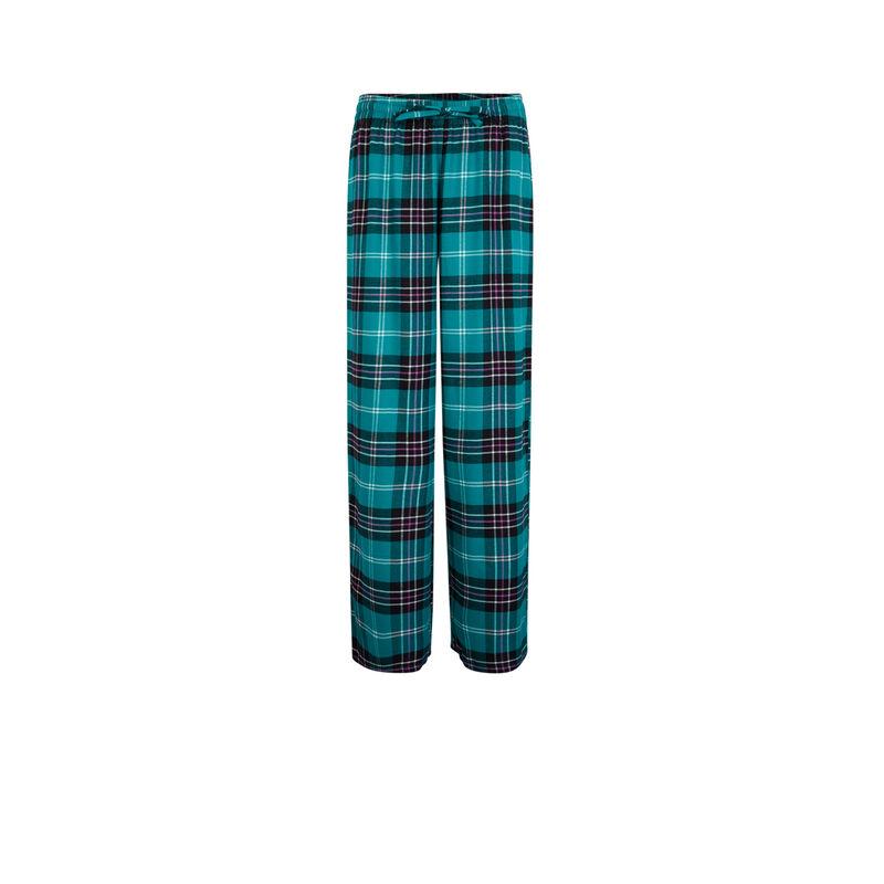 Pantalón a cuadros - verde;