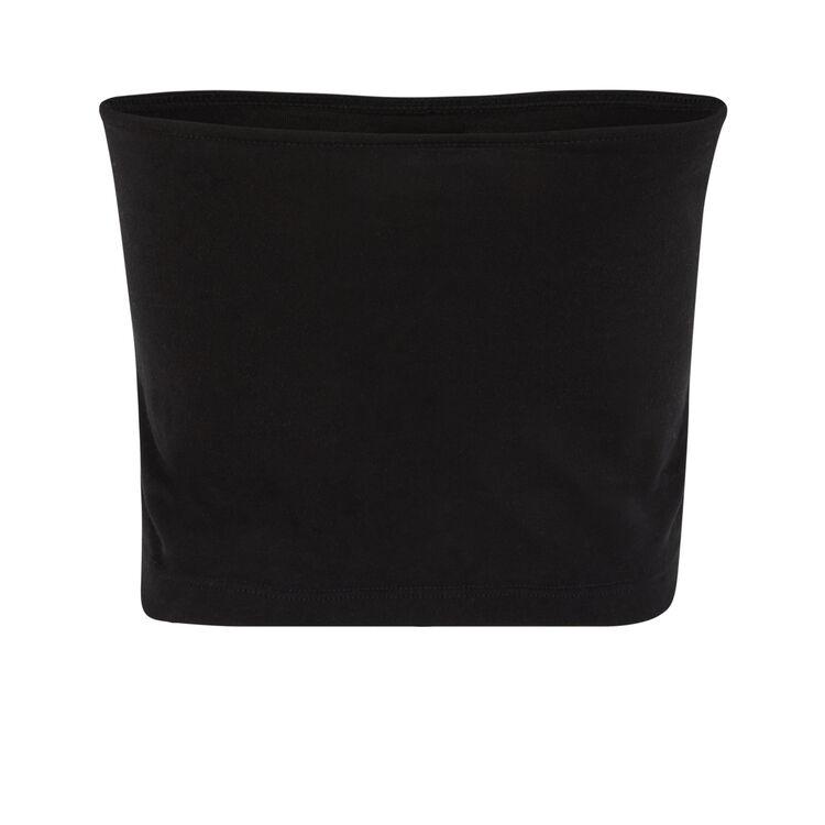 Top bandeau negro croversiz;