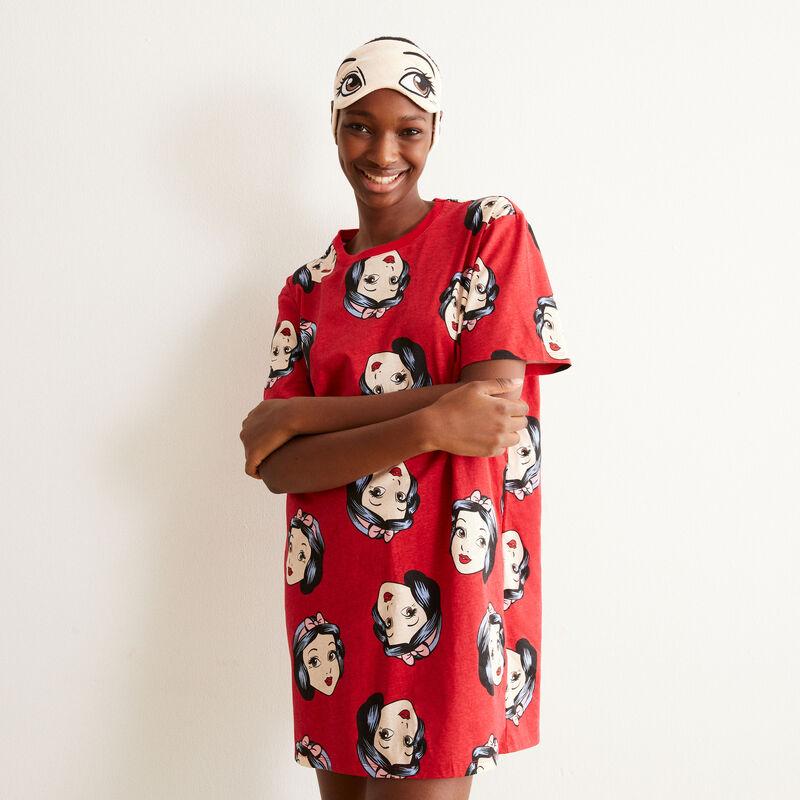 juego de pijama camiseta larga y antifaz Blancanieves - rojo;