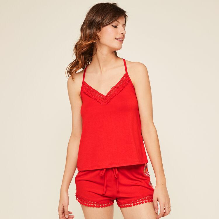 Shorts rojos futurbestiz;