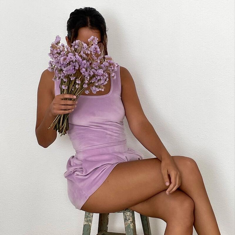 sujetador de terciopelo - morado;