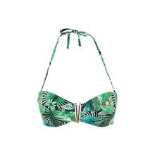Top de bikini bandeau verde savaniz green.