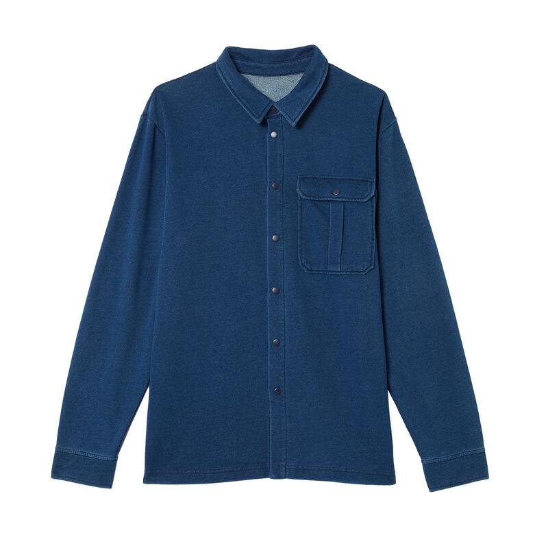 Camisa vaquera con bolsillos - azul;