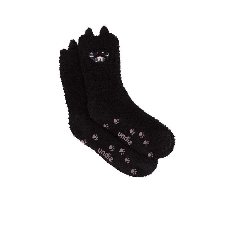 Calcetines con gato lindo - negro;