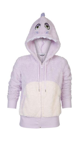 Chaqueta de peluche violeta claro dinoriz purple.