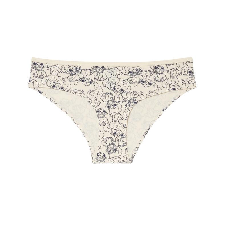 Braguita culotte con estampado de stitch - blanco roto;