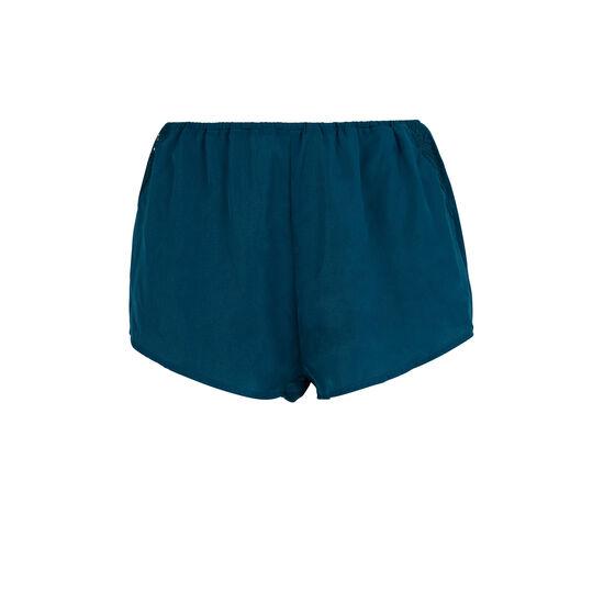 Shorts azul pavo real finiz;