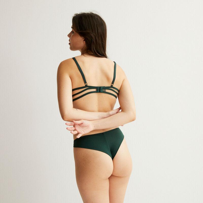 sujetador corbeille de tul y bandas - verde pino;