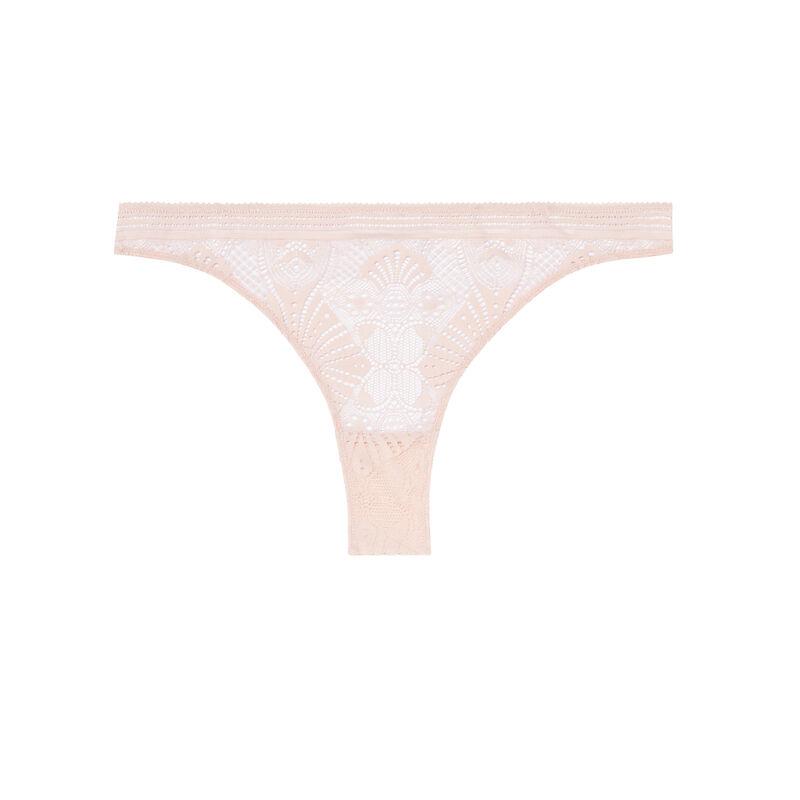 braguita brasileña con detalles de lazos - rosa nude;