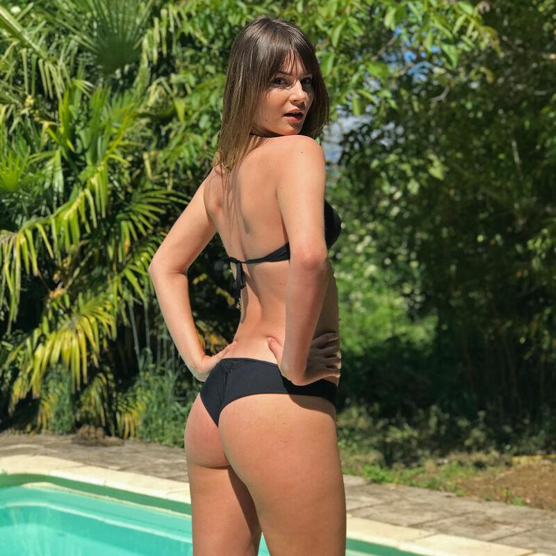 Parte de arriba de bikini sujetador - negro;