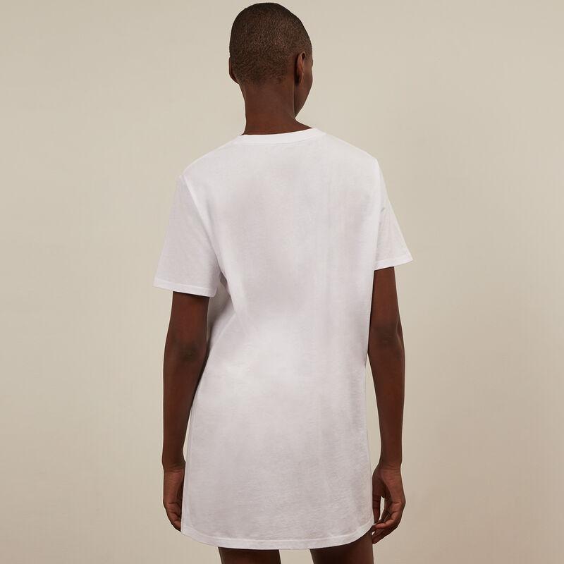 Camiseta larga de manga corta Rey León - blanca;