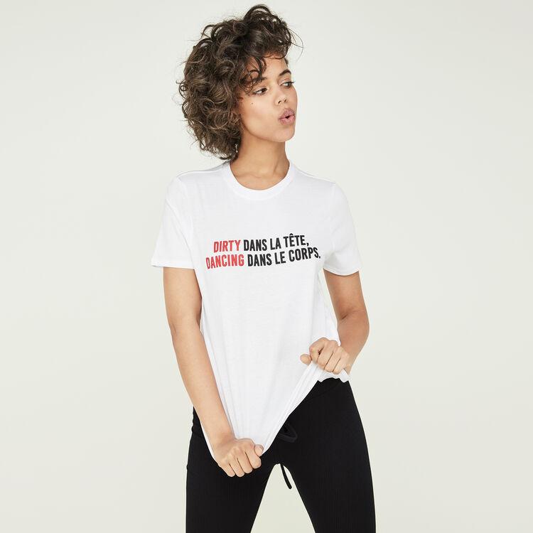 Camiseta blanca danciz;