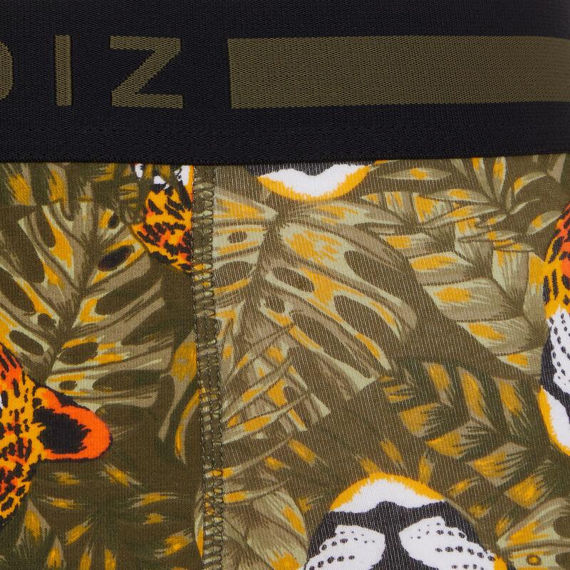 Bóxer de algodón con estampado leopardiz;