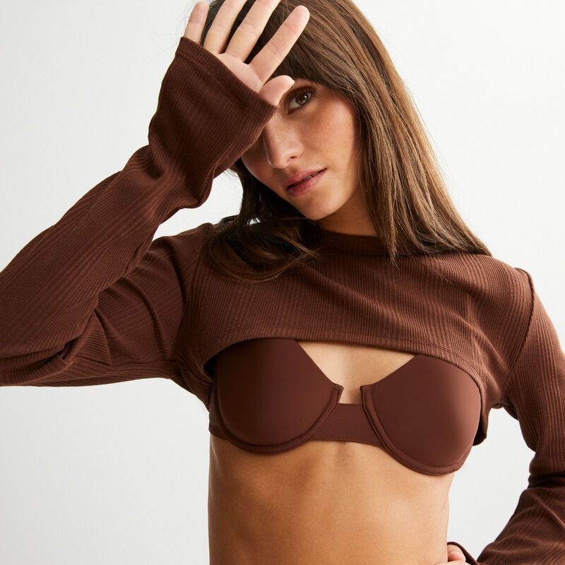 top cubremangas - marrón;