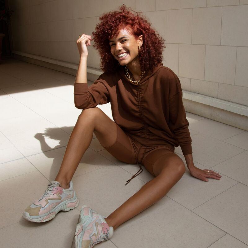 Sudadera con capucha - marrón;