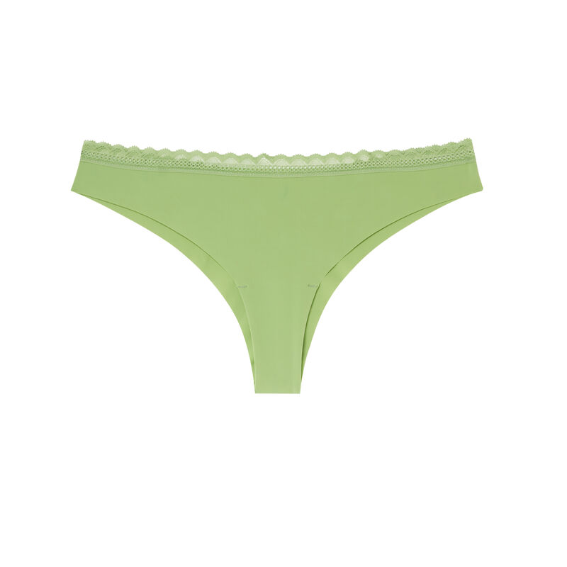 Braguita brasileña de microfibra lisa - verde;