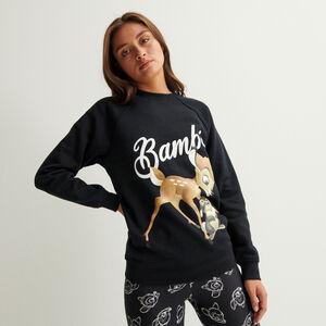 Sudadera estampada de Bambi - negro