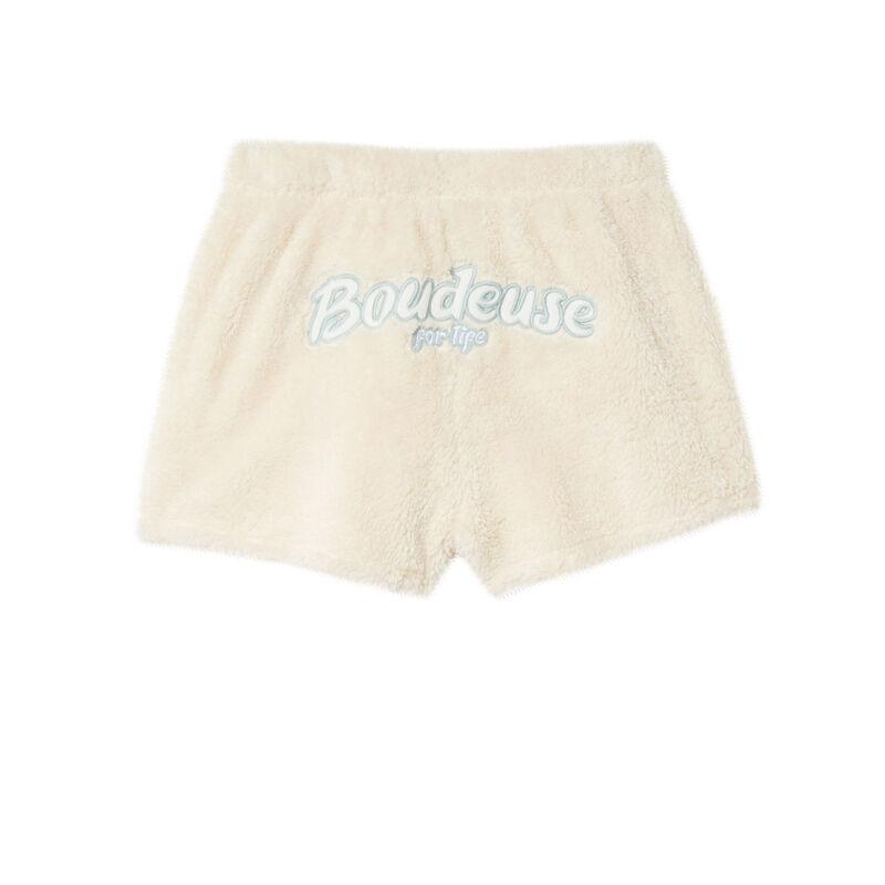 """Pantalón corto """"boudeuse for life"""" polar - blanco roto;"""