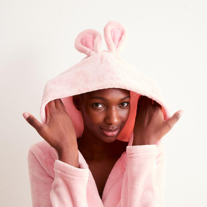 albornoz de polar conejito boudeuse - rosa;