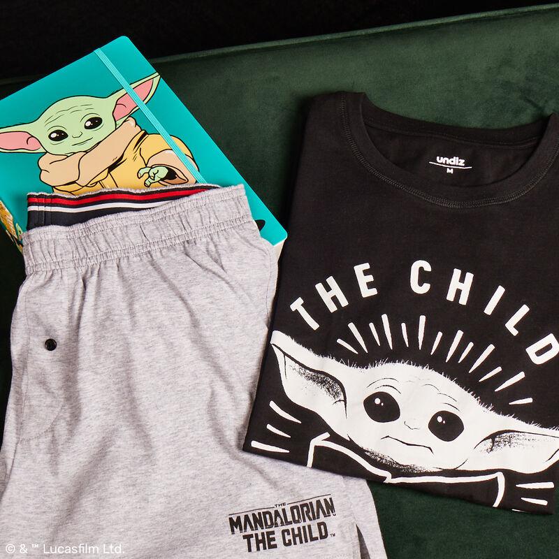 juego de pijama short baby Yoda - negro;