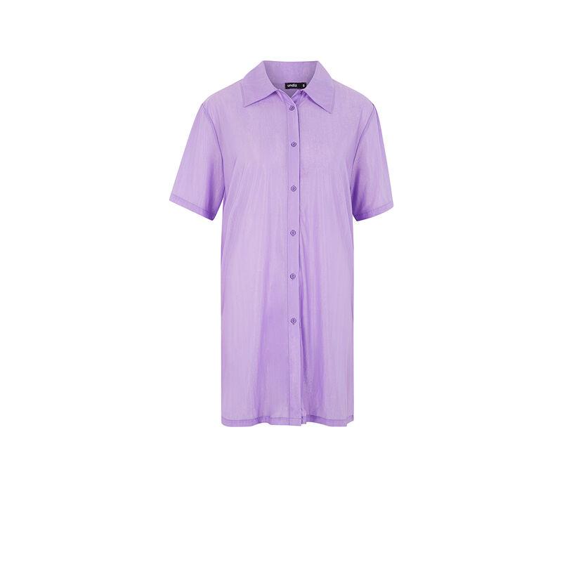 Vestido de manga corta metalizado - lilas;