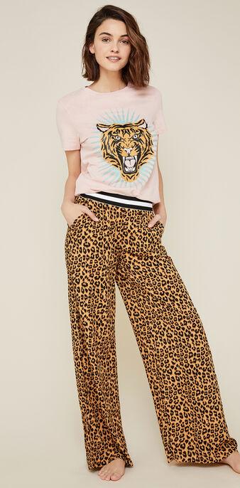 Pantalon léopard realbetia brown.