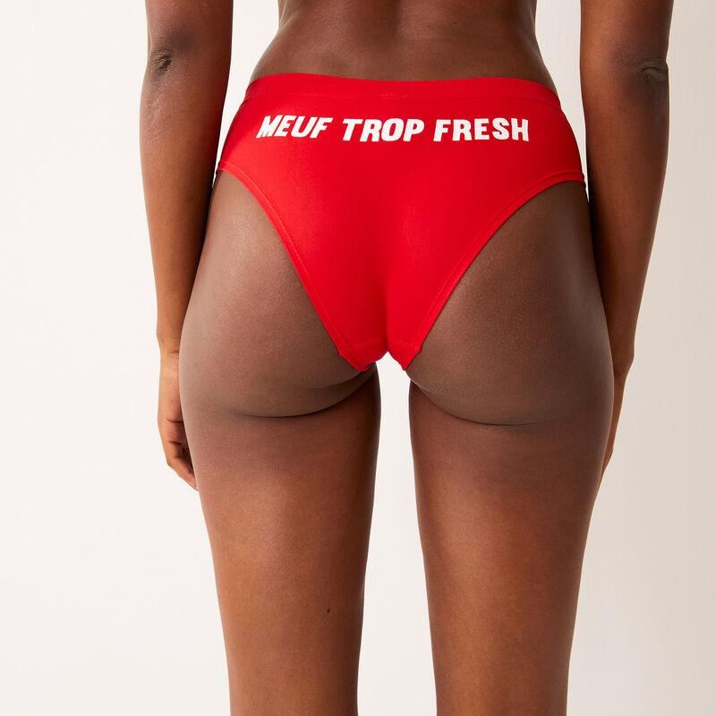 Braguita culotte estampado meuf trop fresh - roja;