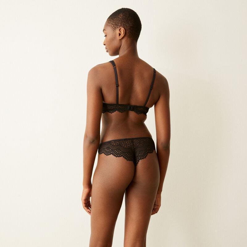 Braguita brasileña de encaje - negra;