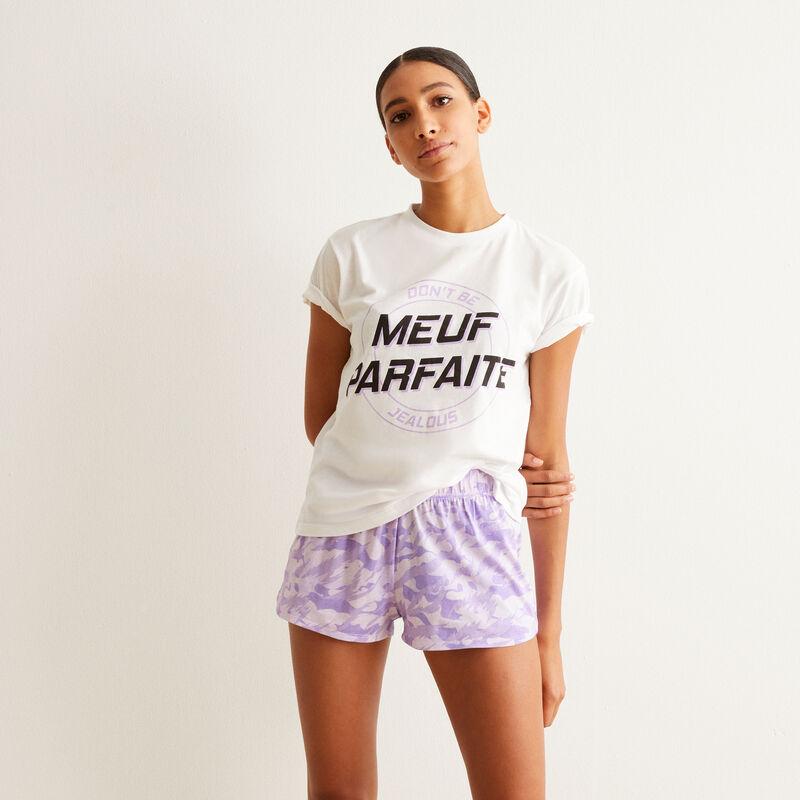Juego de pijama shorts meuf parfaite - violeta;