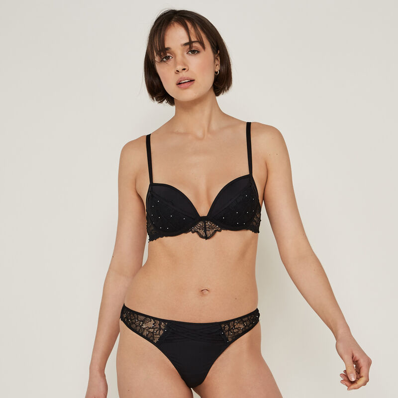 Sujetador push-up de dos materiales datenightiz;