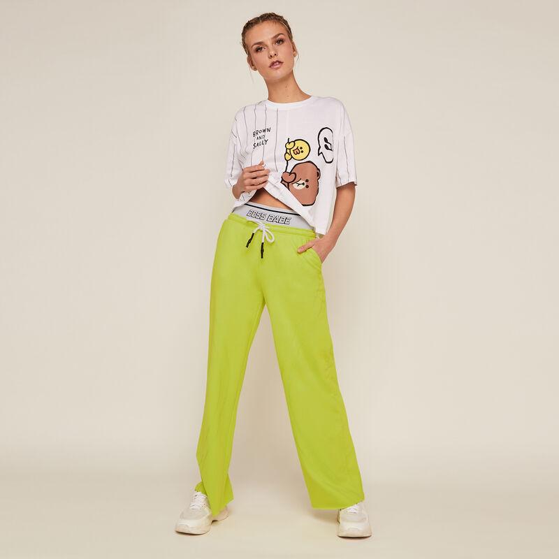 Pantalón de chándal liso - verde;