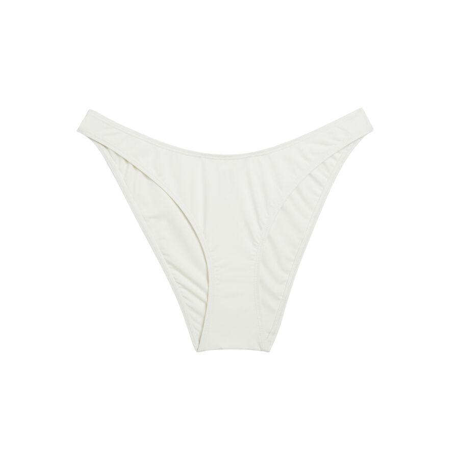 Parte de abajo de bikini blanco roto abricotiz;