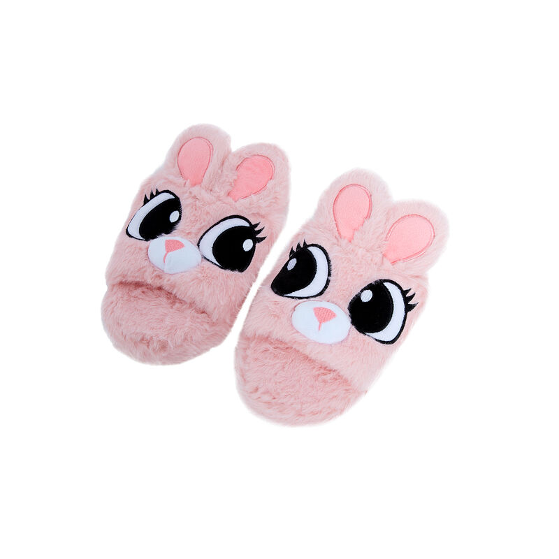 zapatillas conejito - rosa;