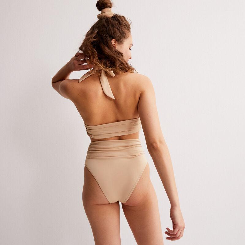 parte de arriba de bikini triángulo pañuelo x Romy - beige;