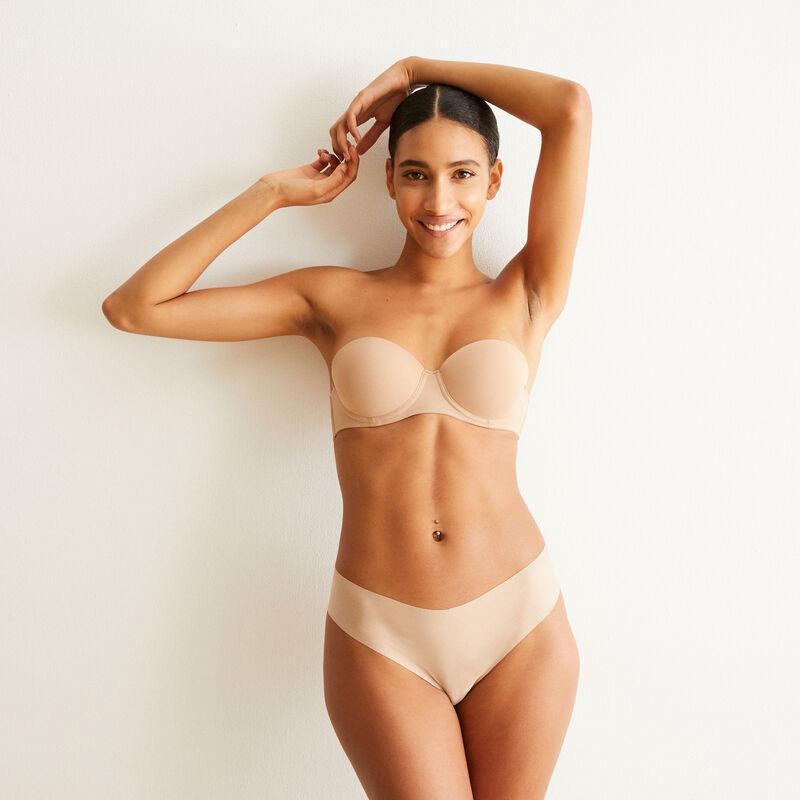 Juego de 2 braguitas culotte nude de microfibra;