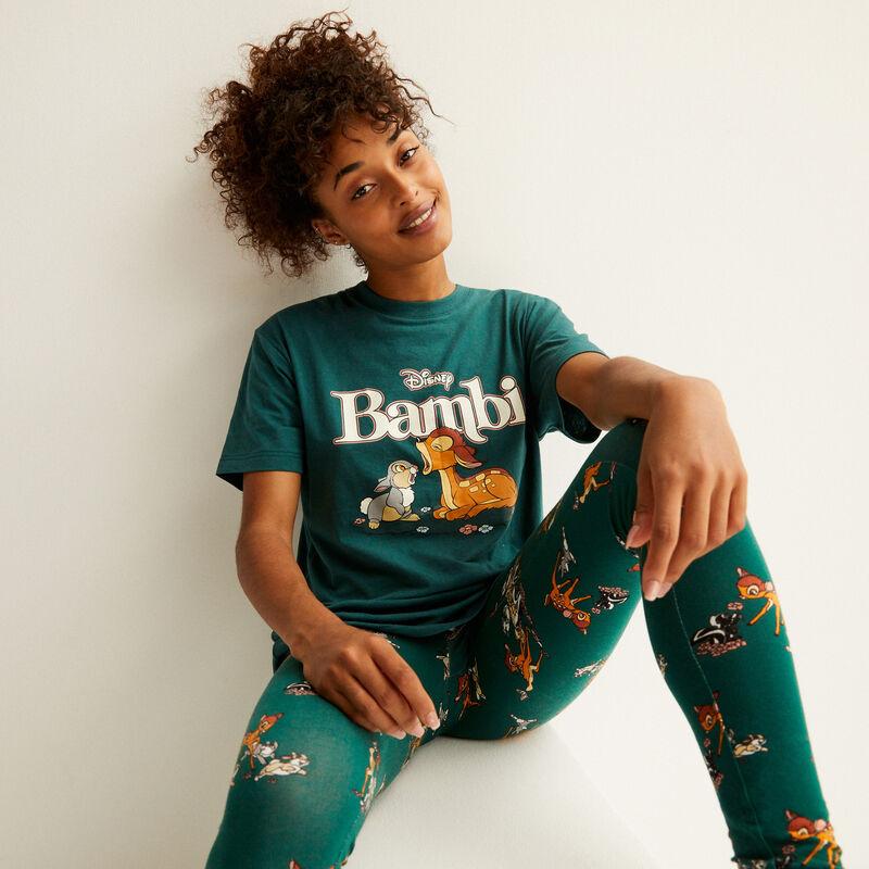 camiseta con estampado de bambi - abeto;