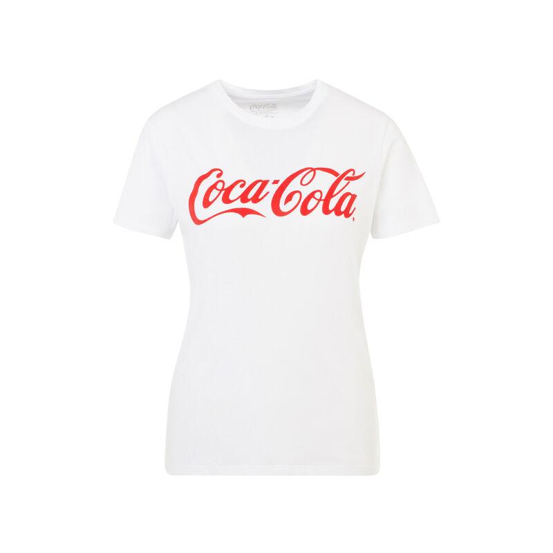 Camiseta blanca cocacoliz;