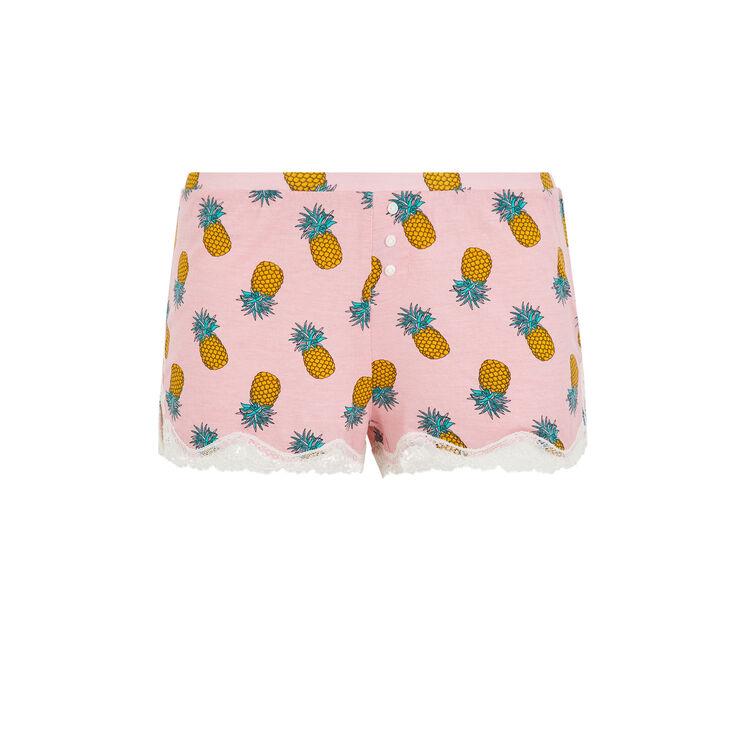 Shorts de punto con piñas estampadas yellonaniz;