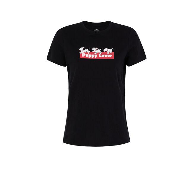 Camiseta negra dalmsiz;